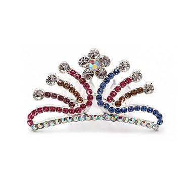 bela cz cúbicos de zircônia daminha de casamento tiara / headpiece mais cores disponíveis