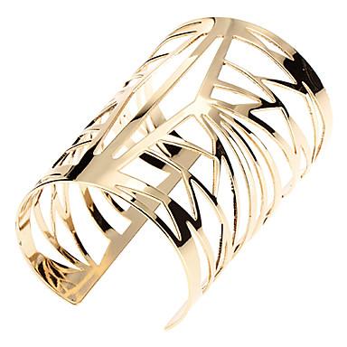 billige Motearmbånd-Dame Mansjettarmbånd Vintage Armbånd damer Unikt design Mote Dubai Syntetiske Edelstener Armbånd Smykker Gylden Til Avslappet