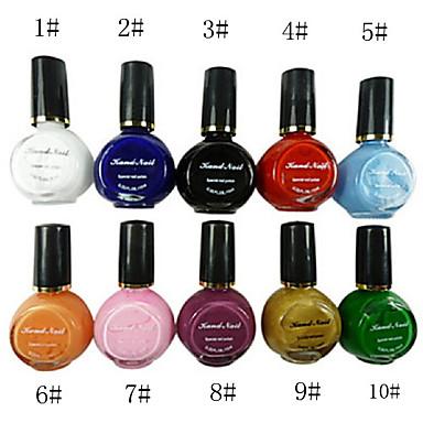 Набор из 10 лаков для ногтей  Nail Art (цвета в ассортименте)