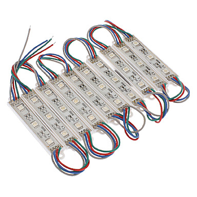 vandtæt 0,6w 5050smd rgb lys led modul (dc 12v, 10pcs)
