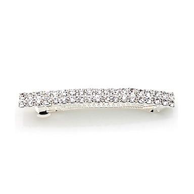 Almofada de cabelo de liga de diamante de strass estilo clássico feminino