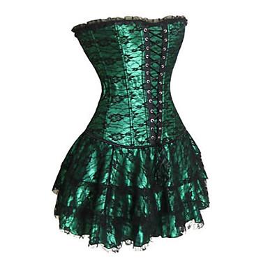 Korse Gotik Lolita Siyah Kırmzı Yeşil Lolita Aksesuarları Desen Polyester