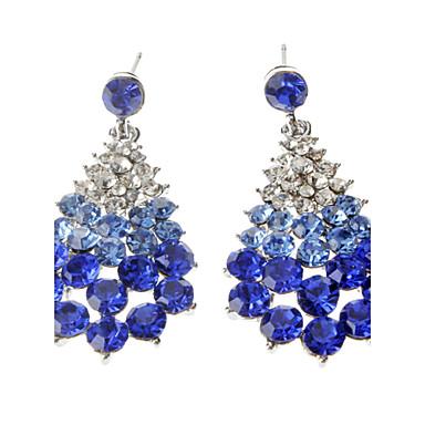 Dámské Luxus Kapka Umělé diamanty Visací náušnice - Luxus Bílá / Modrá Náušnice Pro Párty / Denní