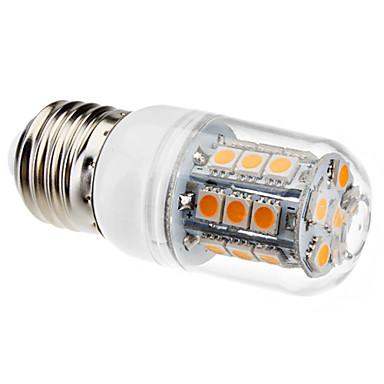 3W 450-550lm E26 / E27 LED-maissilamput T 27 LED-helmet SMD 5050 Lämmin valkoinen 220-240V