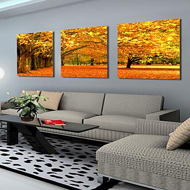 Stampe a tela Set di tele Paesaggi Botanica Tre Pannelli Orizzontale Stampa Decorazioni da parete Decorazioni per la casa