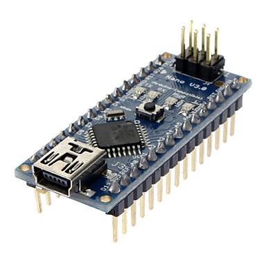 Nano V3.0 AVR ATmega328 P-20AU Modul Board; USB Kabel für Arduino (Blau /Schwarz)