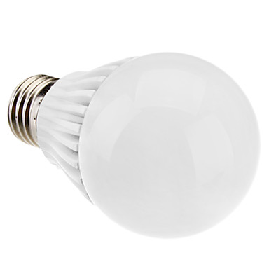 E27 5W 350-380LM 5800-6500K Natural White Light White Shell LED Ball Bulb (110-240V)
