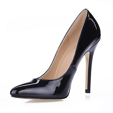 b5457408 sort laklæder stilethæl hæl spidse tå pumper damesko fest / aften sko  kontor sko