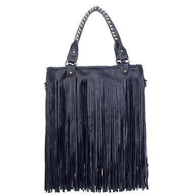 Women PU Casual Shoulder Bag / Tote Black