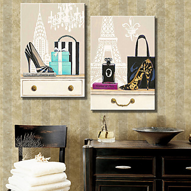 Canvas Set Still Life Two Panels Horizontal Print Wall Decor Home Decoration