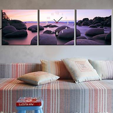 moderní styl pláž nástěnné hodiny v plátně 3ks