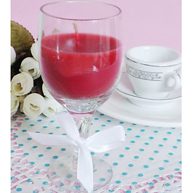 Nice Wine Glass Design Candle Favor In Gift Box Wedding Favors
