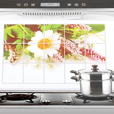 Yüksek kalite 1pc Aluminyum Yağ Sızdırmaz Çıkartmalar Araçlar, Mutfak Temizlik malzemeleri