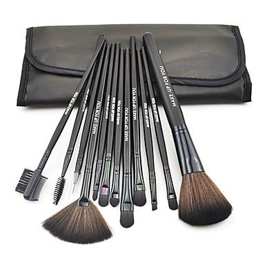 12pcs Makyaj fırçaları Profesyonel Fırça Setleri Naylon Fırça / Sentetik Saç / Diğerleri Bakterileri Kısıtlar Orta Fırça