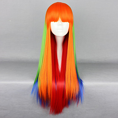 Lolita Wigs Punk Lolita Color Gradient Lolita Wig 75 CM Cosplay Wigs Patchwork Wig For