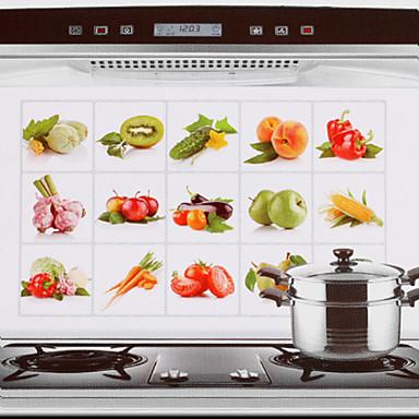 Mutfak Temizlik malzemeleri Aluminyum Yağ Sızdırmaz Çıkartmalar Araçlar 1pc