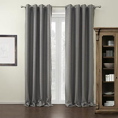 Ahşap Korniş Kısmı Kopça Deliği Üstü Tab Top Çift Kaplamalı Pencere Tedavi Modern Solid %100 Polyester Polyester Malzeme Ev dekorasyonu