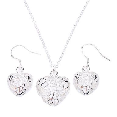 Pentru femei Seturi de bijuterii Plastic Argintiu Aliaj Modă Petrecere Ocazie specială Aniversare Zi de Naștere Logodnă Cadou Σκουλαρίκια