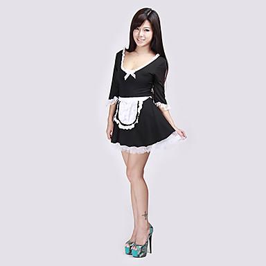sexy černé drzá služka ozdobný mini šaty pro dospělé halloween kostým