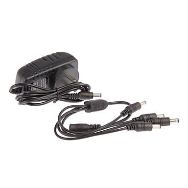 Strøm Forsyning Input AC 100-240V Output DC 12V 2A 1to4 For CCTV Camera for Sikkerhed Systemer 7*4*5cm 0.06kg