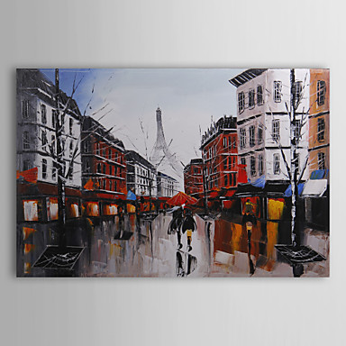 Hand-Painted Landscape Horizontal Canvas Oil Painting Home Decoration One Panel