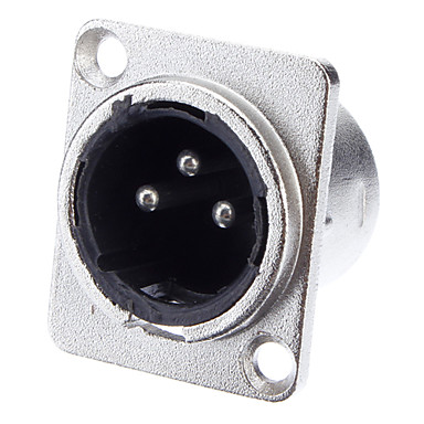 KTV Mikrofon için XLR 3-çekirdek Kaynak Adaptörü Nikel Kaplama Bay Vakfı