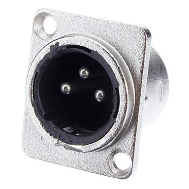 XLR 3-cores Svejsning Adapter forniklet Mand Foundation for KTV mikrofon