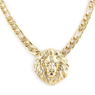 Dámské Náhrdelníky s přívěšky - Pozlacené Lev, Zvíře Módní Zlatá Náhrdelníky Pro Svatební, Párty, Denní