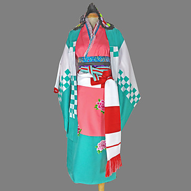 Ispirato da Blue Exorcist Shiemi Moriyama Anime Costumi Cosplay Abiti Cosplay Kimono Fantasia geometrica Manica lunga Yukata Accessori
