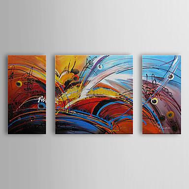 Handgemalte Abstrakt Horizontal Segeltuch Hang-Ölgemälde Haus Dekoration Drei Paneele
