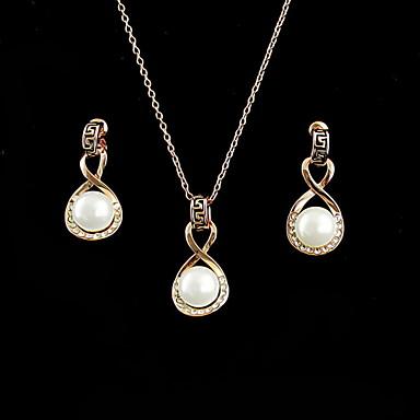 Damen Schmuck-Set Ohrringe / Halsketten - Gold Für Party / Besondere Anlässe / Jahrestag