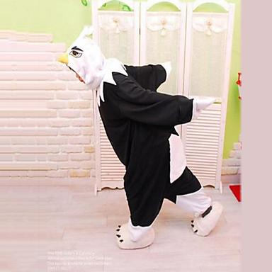 Kigurumi Pajamas Eagle Onesie Pajamas Costume Polar Fleece Black Cosplay For Adults' Animal Sleepwear Cartoon Halloween Festival / Holiday