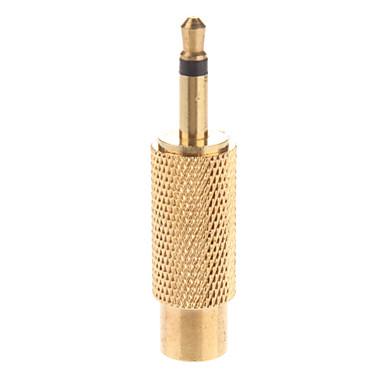 Metall 3,5 mm Mono-Stecker auf Cinch-Buchse Adapter vergoldete