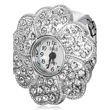 Dame ' Simulacija Dijamant Ručni sat Kvarc imitacija Diamond Grupa Svjetlucavo Cvijet Srebro