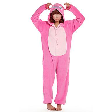 Yetişkin Kigurumi Pijama Monster Mavi canavar Onesie Pijama Fanila Tüylü Kumaş Cosplay İçin Erkek ve Kadın Hayvan Sleepwear Karikatür Festival / Tatil Kostümler