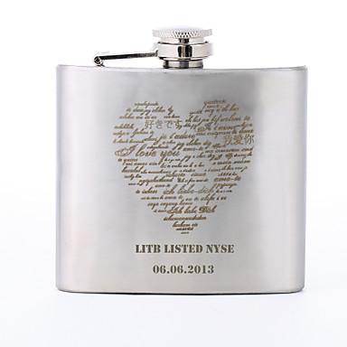Personalisierte Geschenke Herz-Muster 5 Unzen Metall Großbuchstaben Flask