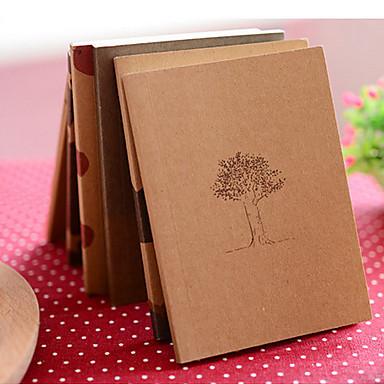 vis timp notebook kraft capac hârtie jurnal (culoare aleatorii)
