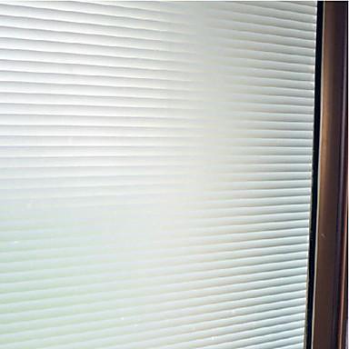 Streifen Klassisch Fensterfolie, PVC/Vinyl Stoff Fensterdekoration Büro Wohnzimmer Badezimmer