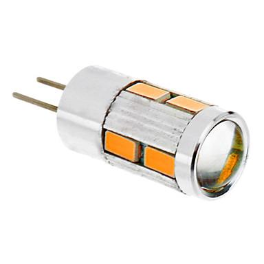 abordables Ampoules électriques-1.5 W Ampoules Maïs LED 2500 lm G4 T 10 Perles LED SMD 5730 Blanc Chaud 12 V