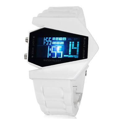 Herre Armbåndsur Digital Watch Digital LED LCD Kalender Kronograf alarm Silikone Bånd Hvid Hvid