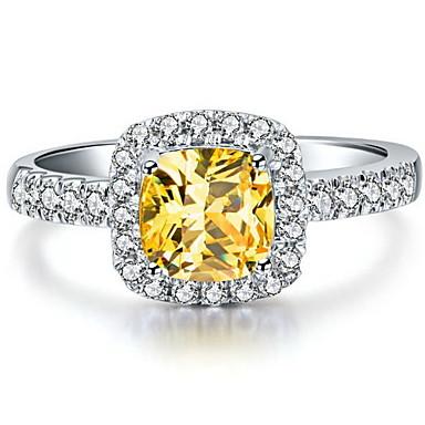 Ringe Kærlighed Fødselsdag Forlovelse Bryllup Smykker Zirkonium Kvadratisk Zirconium Dame Forlovelsesring 1 Stk.,5 6 7 8 9Gylden Hvid