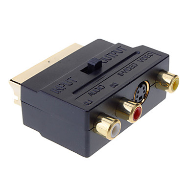 Yongwei Scart zu Composite 3rca S-Video AV-TV-Audio-Adapter