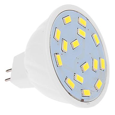 460 lm LED Spot Işıkları MR16 15 led SMD 5630 Serin Beyaz DC 12V