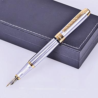 osobní dar premium business styl stříbrný kov ryté inkoustové pero