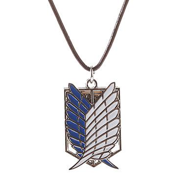 Smycken Inspirerad av Attack on Titan Cosplay Animé Cosplay-tillbehör Vingar / Dekorativa Halsband Metall Herr / Dam Halloweenkostymer
