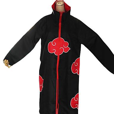 Inspirat de Naruto Akatsuki Anime Costume Cosplay Costume Cosplay Imprimeu Manșon Lung Manta Pentru Bărbați