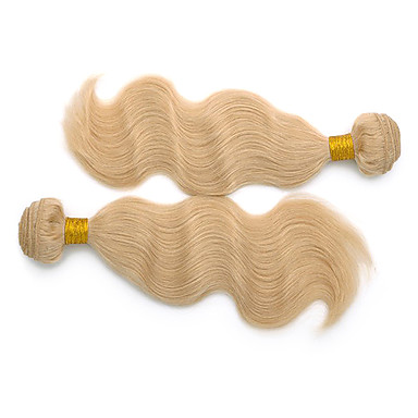 24inch 3stk indiske Remy Krop Wave Hair Bleach Blonde Hair Weft