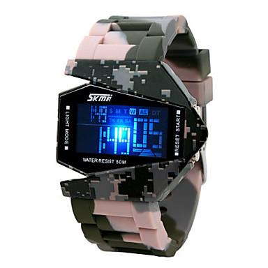 Bărbați Ceas Militar  Piloane de Menținut Carnea Alarmă Calendar Cronograf Rezistent la Apă LED LCD Bandă Multicolor