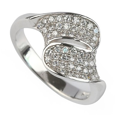 Women's Silver Plated Statement Ring - Fashion White Ring For Party / Daily / Casual