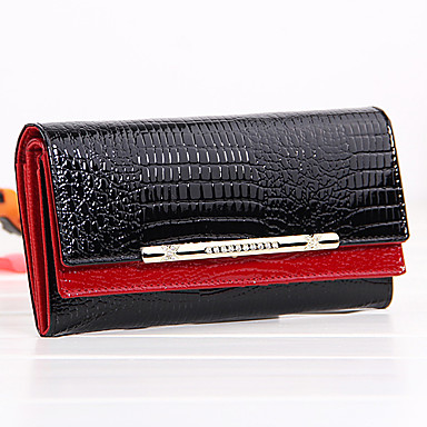 Men's / Women's Bags PU / Cowhide Clutch / Wristlet for Casual Red / Blue / Pink
